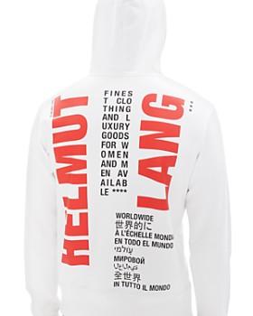 Helmut Lang - Worldwide Logo Graphic Hooded Sweatshirt