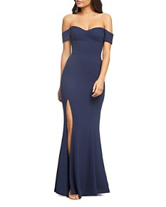 Dress the Population - Logan Off-the-Shoulder Gown
