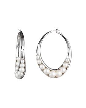 05168b1c8 Carolee - Wrapped Simulated Pearl Large Hoop Earrings ...