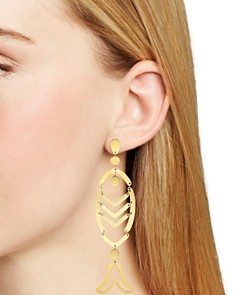 Tory Burch - Articulated Fish & Anchor Earrings