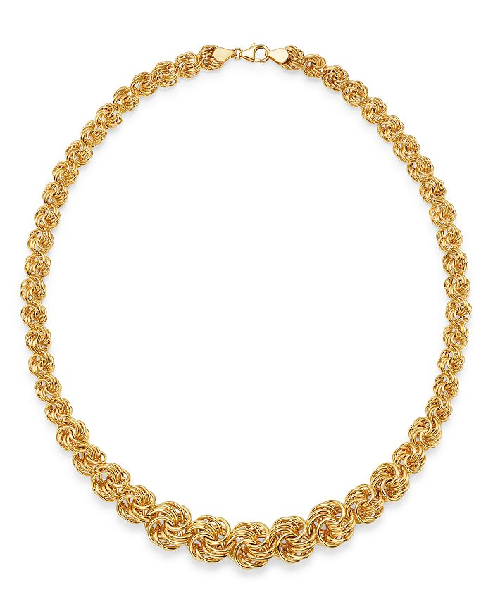 "Bloomingdale's - Graduated Link Necklace in 14K Yellow Gold, 18"" - 100% Exclusive"