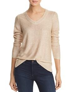 Calvin Klein - Sequined V-Neck Sweater