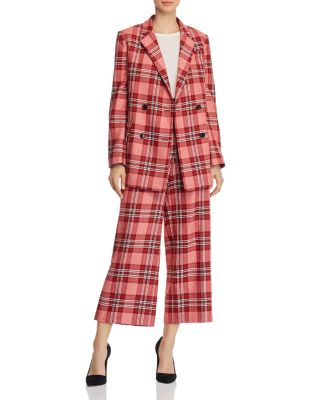 Plaid Double-Breasted Blazer - 100% Exclusive