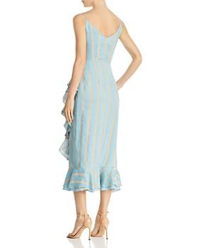 Paper London - Striped Midi Wrap Dress