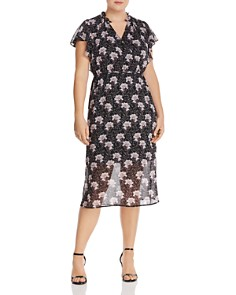 1.STATE Plus - Bloomsbury Floral-Print Midi Dress