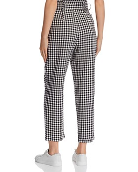 leRumi - Violet Cropped Cotton Gingham Pants