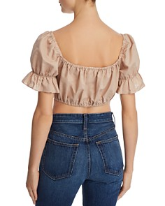 leRumi - Haley Button-Down Cropped Top