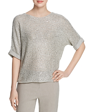 Nic And Zoe Knits NIC+ZOE SEQUINED KNIT TOP