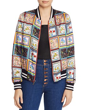 0bc840748de Alice and Olivia - Lonnie Reversible Bomber Jacket ...