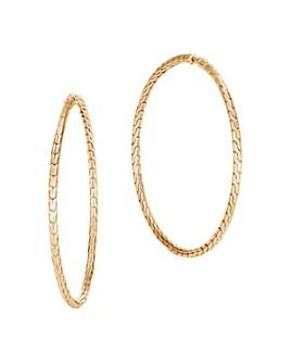 JOHN HARDY - 18K Yellow Gold Classic Chain Large Hoop Earrings