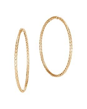69e5207a27b JOHN HARDY - 18K Yellow Gold Classic Chain Large Hoop Earrings
