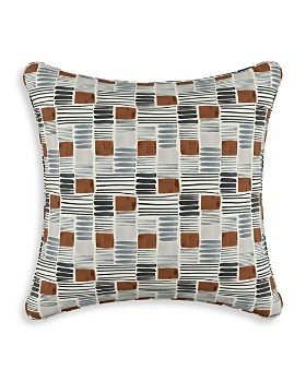 "Sparrow & Wren - Charcoal Block Ink Umber Down Pillow, 20"" x 20"""