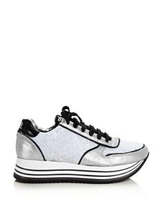 P448 - Women's Boston Metallic Platform Sneakers