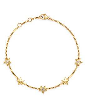 Bloomingdale's - Pavé Diamond Star Bracelet in 14K Yellow Gold, 0.10 ct. t.w. - 100% Exclusive