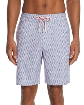 Johnnie-O - Jekyll Geometric-Print Swim Trunks