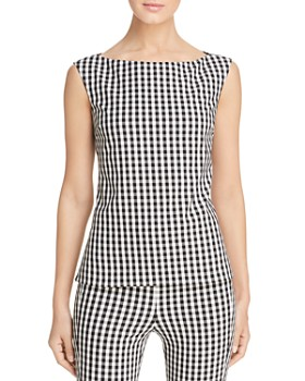28a4b9eb677 Elie Tahari - Aja Sleeveless Gingham Top - 100% Exclusive ...