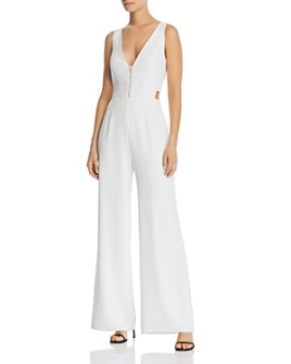 WAYF - Virgil Cutout Wide-Leg Jumpsuit