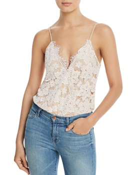 WAYF - Lizzie Crossover Lace Bodysuit