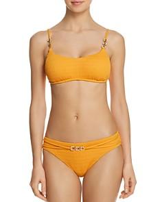 Trina Turk - Cabana Solids Bralette Bikini Top & Cabana Solids Hipster Bikini Bottom