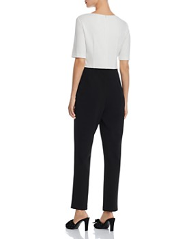 Adrianna Papell - Color-Blocked Knit Jumpsuit