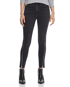 rag & bone/JEAN - Carly Zip Detail Skinny Jeans in Carlton