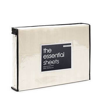 Bloomingdale's Essentials - Organic Dobby Stripe Sheet Set, King - 100% Exclusive