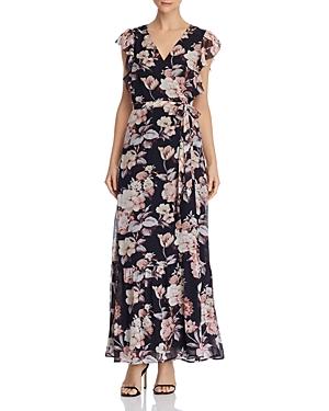 Paige Dresses MAQUEL SILK FLORAL WRAP DRESS