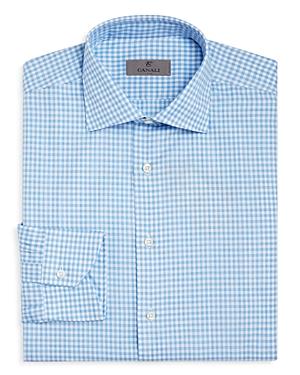 Canali Melange Gingham Regular Fit Dress Shirt