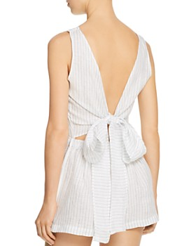 Vitamin A - Martinique Linen Jumpsuit Swim Cover-Up