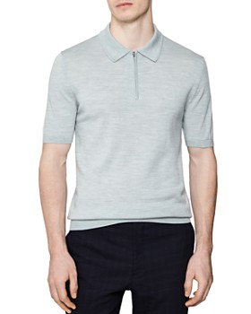 REISS - Maxwell Merino Half-Zip Shirt