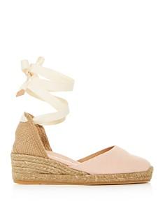 Castañer - Women's Carina Lace Up Espadrille Wedge Sandals