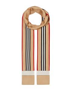 Burberry - Heritage-Stripe Silk Skinny Scarf