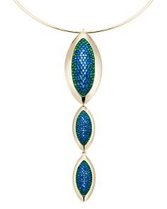 "Atelier Swarovski - by Themis Zouganeli Evil Eye Pendant Collar Necklace, 10"""