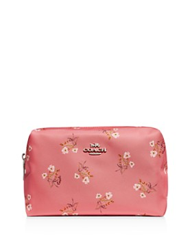 71cd900bbbaa COACH - Large Boxy Floral Print Bow Cosmetic Case ...