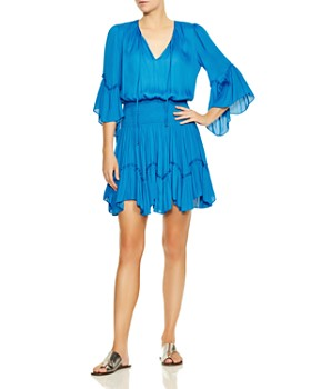 3e946ecd6ce6 HALSTON HERITAGE - Ruffle-Trimmed Blouson Dress ...