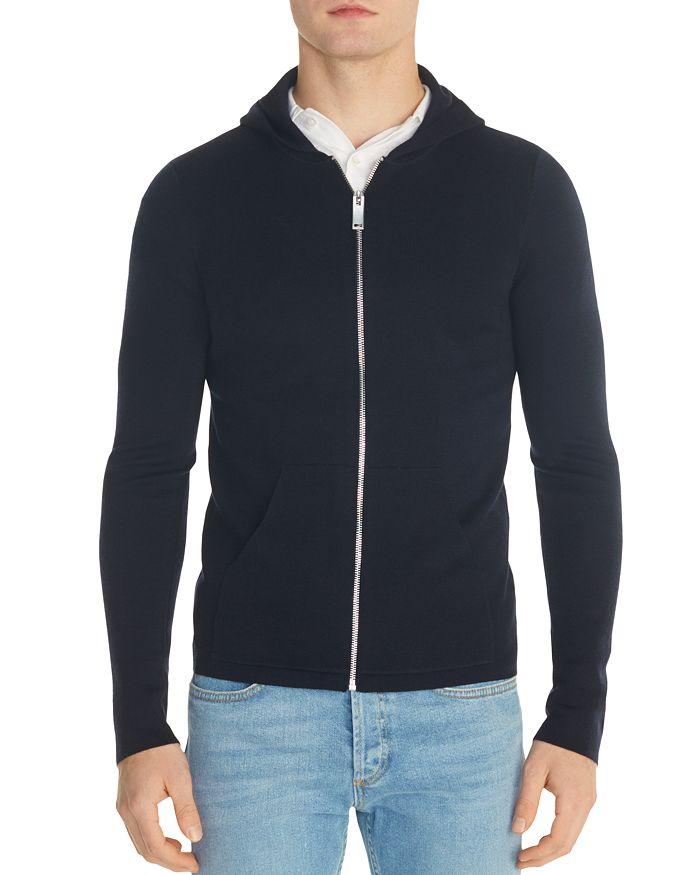 Sandro - Wool Zip-Front Hoodie