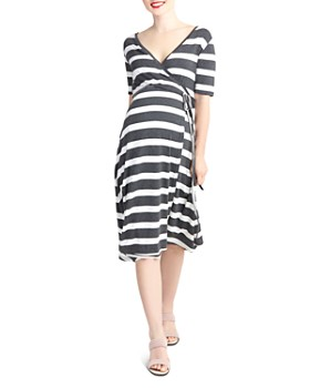2d0007dd029 Nom Maternity - Maya Striped During   After Wrap Dress ...
