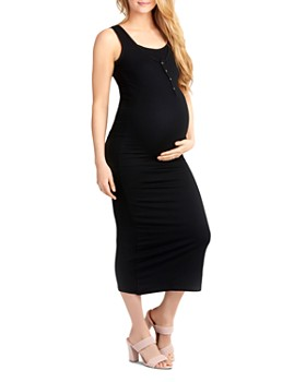 Nom Maternity - Snap-Front Midi Tank Dress