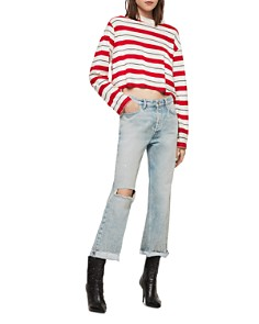 ALLSAINTS - Benno Striped Cropped Tee