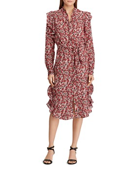 10915caf93 Ralph Lauren - Floral-Print Ruffle Dress ...