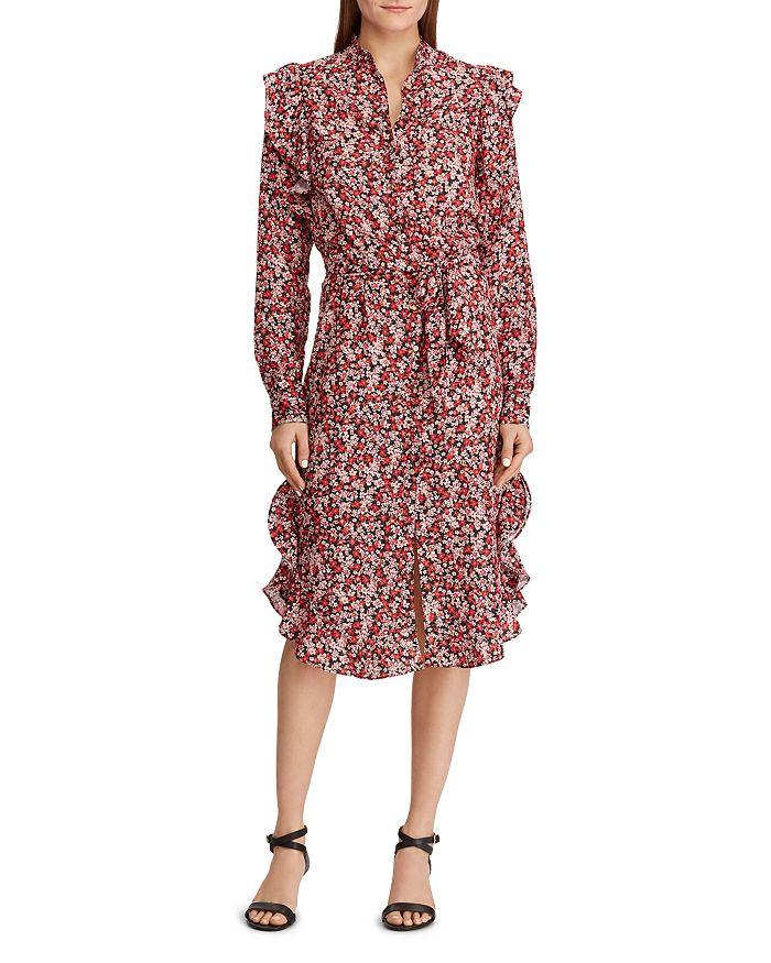 Ralph Lauren - Floral-Print Ruffle Dress