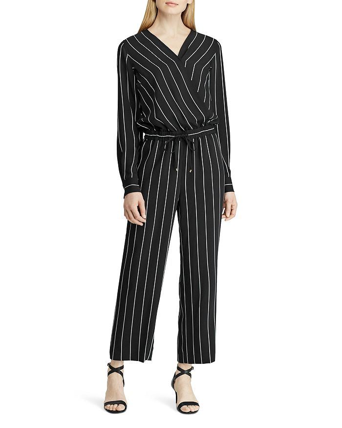 Ralph Lauren - Pinstriped Cropped Jumpsuit