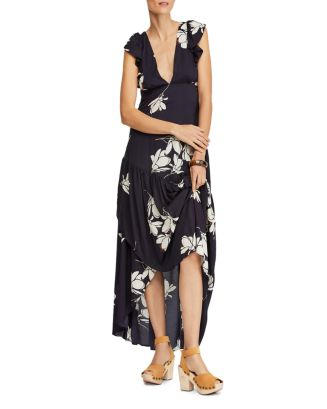 She's A Waterfall Floral Print Maxi Dress by Free People