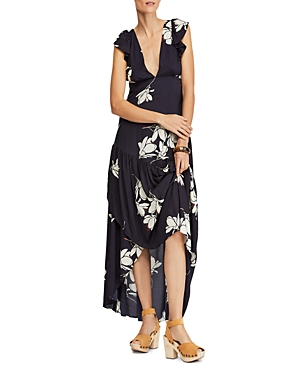 Free People Dresses SHE'S A WATERFALL FLORAL-PRINT MAXI DRESS