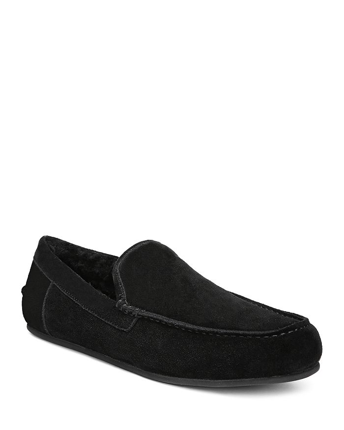 Vince Slippers MEN'S GINO SUEDE & SHEARLING SLIPPERS