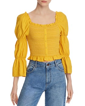 Lost and Wander - Smocked Cropped Top