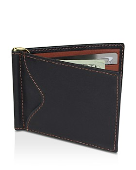 ROYCE New York - RFID-Blocking Leather Card Case with Money Clip