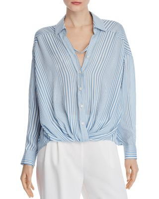 Striped Boyfriend Blouse   100% Exclusive by Chriselle Lim
