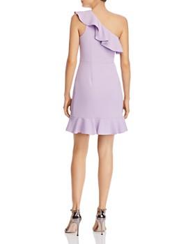 Aidan by Aidan Mattox - Flounced One-Shoulder Dress