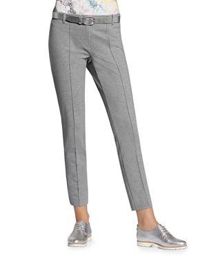 BASLER | Basler Lea Belted Skinny Cropped Pants | Goxip